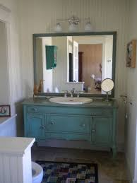 Turquoise Cabinet 30 Best Farmhouse Bathroom With Turquoise Cabinets Ideas