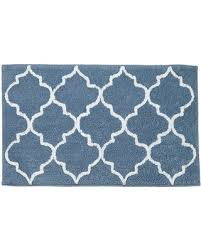 amazing deal on sonoma goods for life lattice bath rug blue