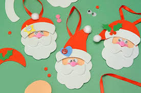 partystore crafts foam santa ornament craft kits