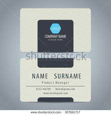 Simplemodern Clean Simple Modern Business Card Template Stock Vector 307661717