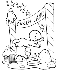 coloring ghost candyland free printable halloween coloring