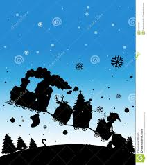silhouette train full of christmas things stock vector image