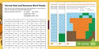 harvest phase 4 phonics mosaic activity sheets autumn decode