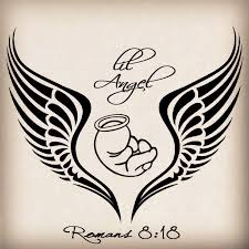 baby angel wings tattoo design photos pictures and sketches