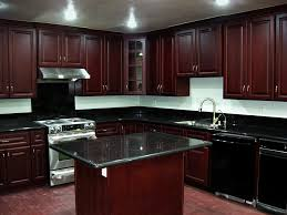 Cherry Wood Kitchen Cabinets With Black Granite Appealing Cherry Kitchen Cabinets Dans Design Magz