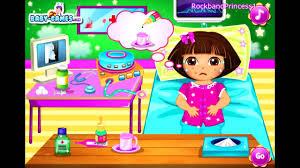 dora the explorer online games dora doctor room game youtube
