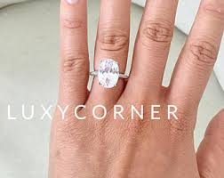 oval engagement ring with halo oval engagement ring etsy
