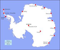 map of antarctic stations antarctica temperatures climate trends