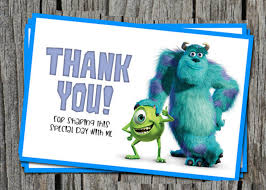 Monster Inc Baby Shower Decorations Monsters Inc Baby Shower Thank You Cards Home Party Theme Ideas