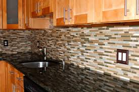 glass backsplashes for kitchens tiny subway tiles mosaic glass backsplash with kitchen also shiny