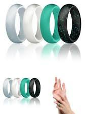 Rubber Wedding Rings by 4 Silicone Wedding Ring Women Rubber Band Glitter Sparkle Teal