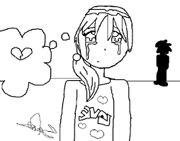 coloring page crying little color online coloringcrew 450542