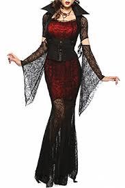 Woman Black Halloween Costume Amazon Women Vixen Vampire Theme Party Fancy Halloween
