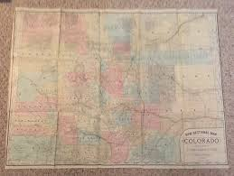 Map Of Colorado by Crofutt U0027s Grip Sack Guide To Colorado Volume Ii Dated 1885
