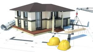 houses drawings construction of houses drawings 3d illustration stock illustration