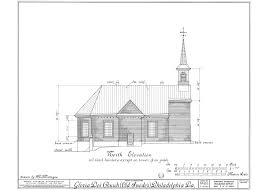 old plan drawings for gloria dei old swedes hgdpc wv church 004a