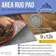 Hardwood Floor Rug Pad Amazon Com Area Rug Pad With Grip Tight Technology 9x12 Non
