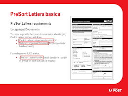 presort letters basics business letter services introduction the