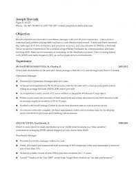 Resume Title Sample Warehouse Worker Resume Example Resume Objective Examples For