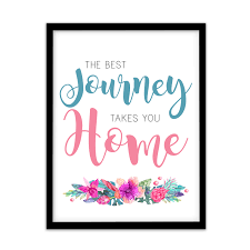quote journey home fp1076 unusual quote new home first house warming gift art print