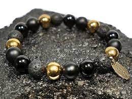 beaded black bracelet images Boybeads quot cornell quot 10mm black onyx lava gold hematite mens bead png