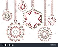 fancy green hanging snowflake stock illustration