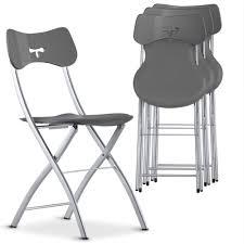 chaise pliante chaise pliante grise tedy lestendances fr