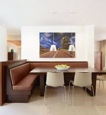 artwork of corner dining table set a choice of minimalism