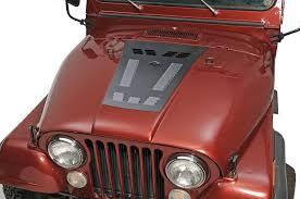 offroad jeep cj hyline offroad louvered hood panel for 76 86 jeep cj 5 cj 7 u0026 cj