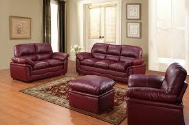 Colored Leather Sofas Maroon Leather Sofa Centerfieldbar Com