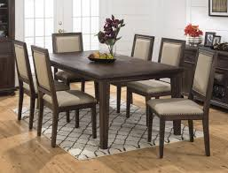 jofran wire brushed dining table with take out leaf and dentil