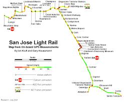 san jose light rail map gps ride plot project presentation to saclug exle 3 san jose