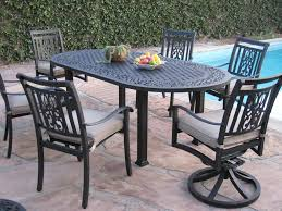 Patio Set With Swivel Chairs 7 Piece Patio Furniture