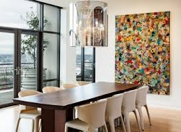 Artwork For Dining Room Artwork For Dining Room With Contemporary Color Block Art Dining