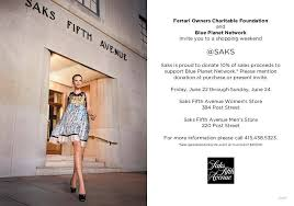 saks fifth avenue black friday shop with a cause at saks fifth avenue this weekend haute living