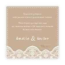 modele remerciement mariage carte de remerciement mariage effet dentelle romantique sur ton