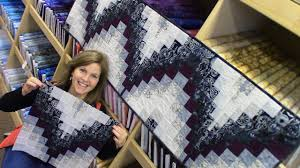 bargello table runner quick and easy method in a step by step