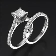 princess cut wedding set swarovski pb wedding bridal set felicienne premier 1 carat