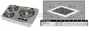 atwood 3 burner drop in cooktop stainless steel 56472