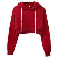 cropped hoodie amazon com