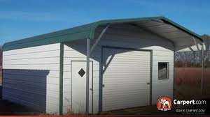 Garage With Carport Metal Garage Building Regular Roof 20 U0027 X 26 U0027 Metal Garages Online