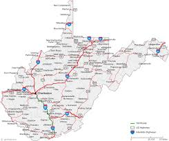map of maryland with cities map of west virginia cities west virginia road map