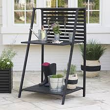 danbury outdoor powder coated steel potting bench comes in a