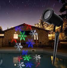 rgb led snowflake lights waterproof outdoor moving snowflake
