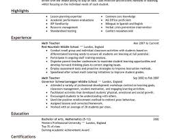 math teacher resume sample cool design ideas teaching resume examples 6 17 best ideas about