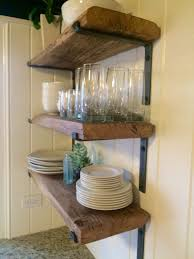 perfect interesting reclaimed wood kitchen shelves best 25