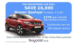 nissan qashqai nearly new best pre registered car deals buyacar