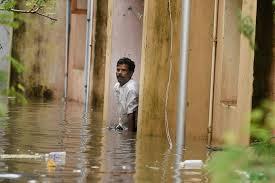 Seeking Chennai A Seeking Help From His Water Logged House At Kotturpuram