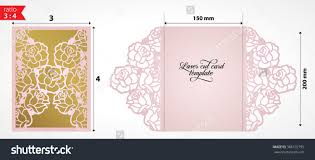 Hindu Marriage Invitation Card Sample Stock Vector Laser Cut Wedding Invitation Card Template Vector Die