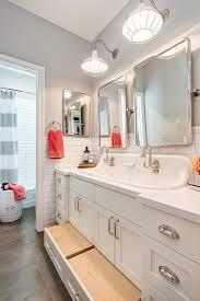 Kids Bathroom Furniture - rejuvenation bingham pivoting rounded rectangle mirrors